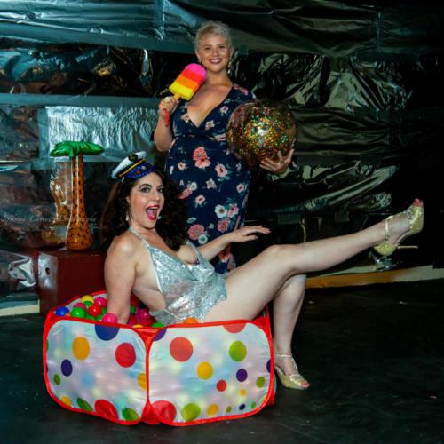 Powder Room Peelers' Beach Party Burlesque Show 6-1-18-85