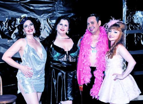 Cast - Powder Room Peelers' Beach Party Burlesque Show 6-1-18-3